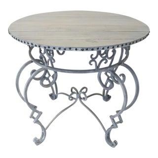 Wrought Iron Round Breakfast Table