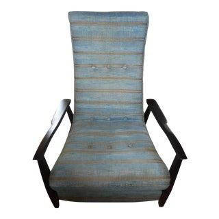 Milo Baughman Style Scoop Reclining Chair
