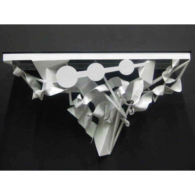 Wall Mounted Console in White Lacquer - Image 5 of 5