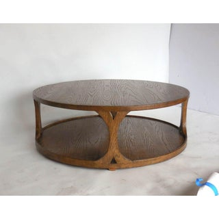 Custom Round Oak Coffee Table