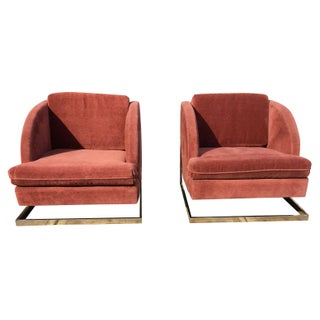 Milo Baughman Inspired Club Chairs - A Pair