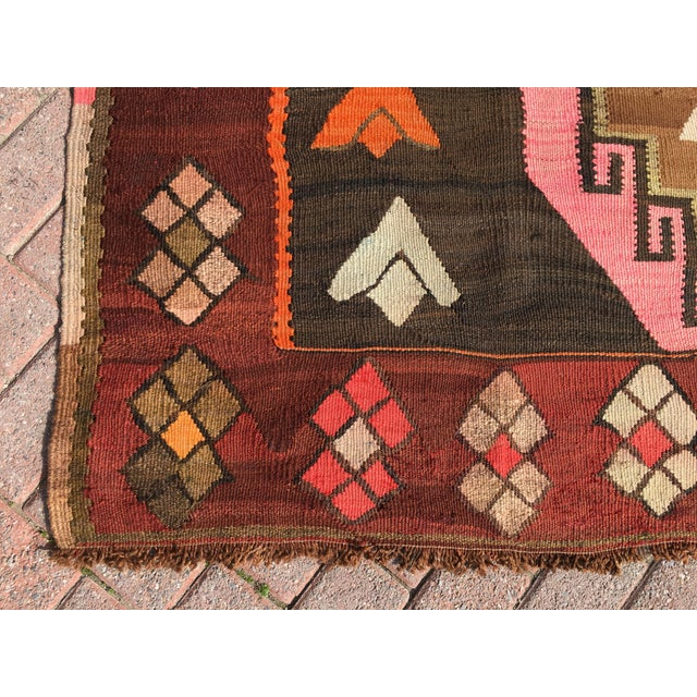 Vintage Turkish Kilim Rug - 6′4″ × 12′ - Image 6 of 10
