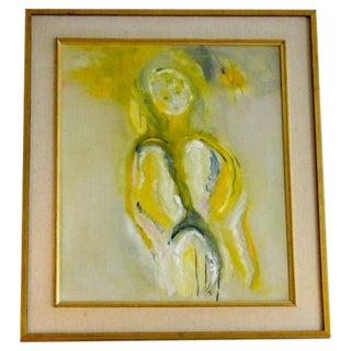 Mid Century Modern Abstract Figure Painting