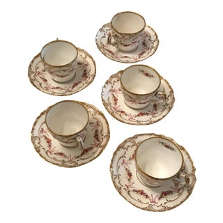 Limoges Cup and Saucer Set - Set of 5