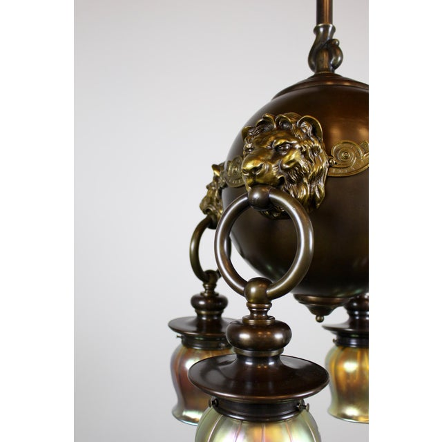 Classic Revival Lion Light Fixture - Image 6 of 10