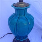 Image of Chinese Vintage Turquoise Lamps - A Pair