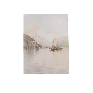 1905 Ella du Cane Print, Morcote, Lago di Como