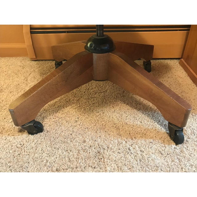 Pottery Barn Wooden Desk Chair - Image 5 of 8