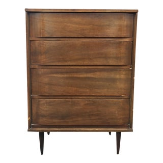 Mid Century Modern 4 Drawer Dresser With Bentwood Fronts