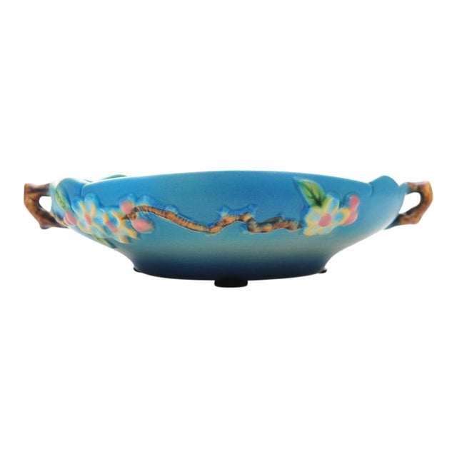 Antique Roseville Pottery Blue Bowl - Image 1 of 10