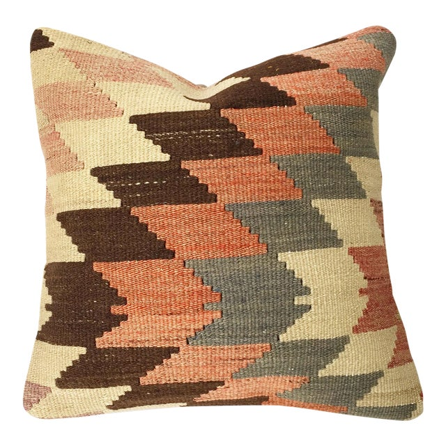 Vintage Kilim Square Pillowcase - Image 1 of 5