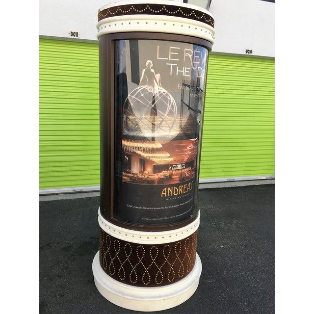 Image of Large Lighted Rotating Advertisement Kiosk