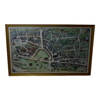 Contemporary Map of Honfleur France