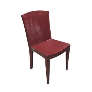 Karl Springer Chair in Coral Lacquer