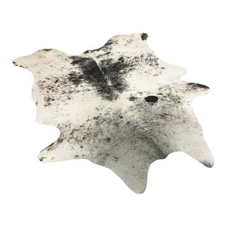 "Black & White Speckled Cowhide Rug - 5'7"" x 6'6"""