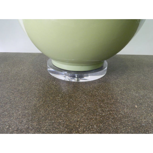 Image of Green Porcelain Table Lamp