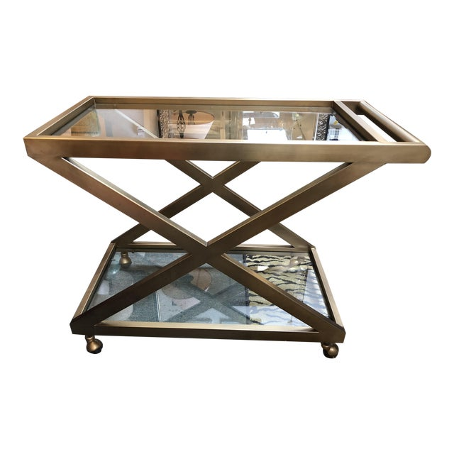 Restoration Hardware Milo Bar Cart - Image 1 of 11