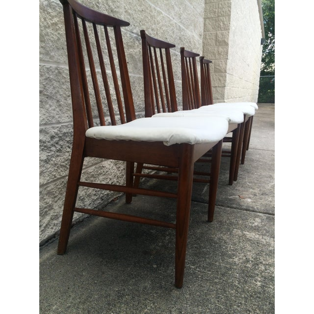 Image of Mid-Century Oak Dining Chairs - Set of 4