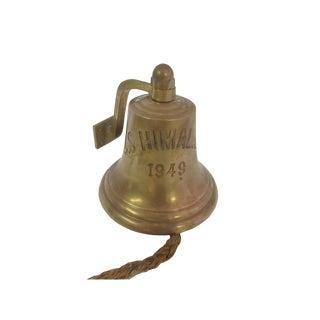 Vintage Ship's Bell u.s.s. Himalaya, 1949