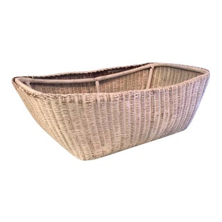 Vintage 40's Wicker Bassinet Basket