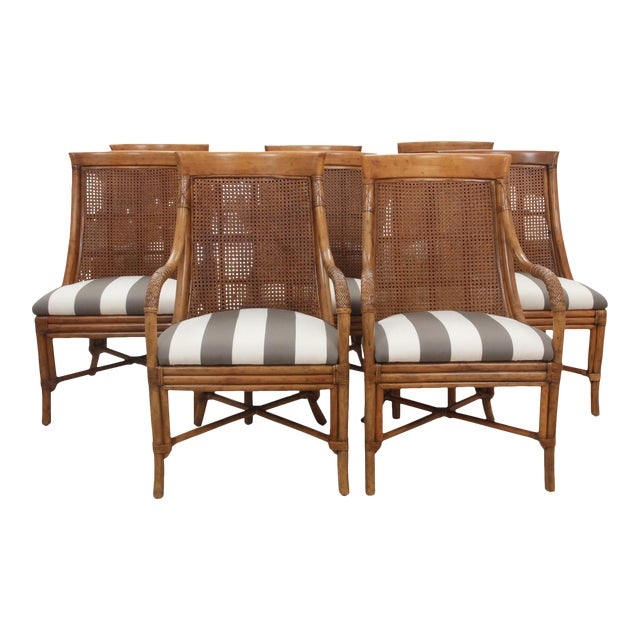 Bamboo Dining Chairs - Set of 8 - Image 1 of 9