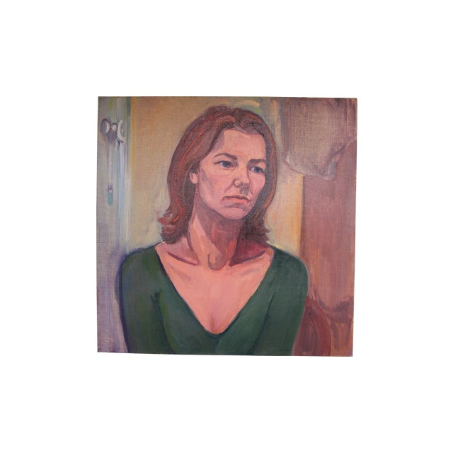 Image of Vintage Portait Painting of a Woman
