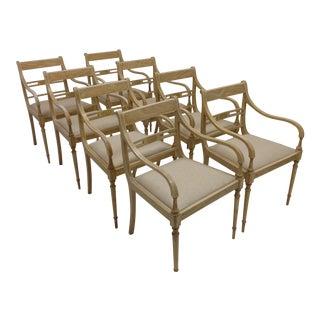 Regency Arm Chairs - Set of 8