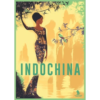 Contemporary Mads Berg Indochina Poster