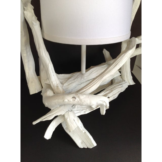 Image of Vintage White Driftwood Table Lamp