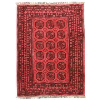 RugsinDallas Hand Knotted Wool Turkman Rug - 6′7″ × 8′10″