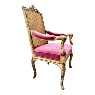 Louis XVI Chair With Velvet Upholstery