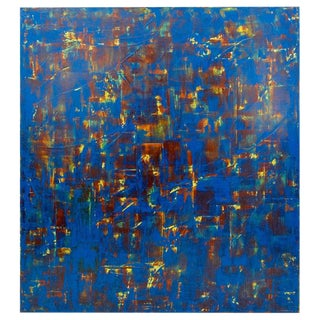 Large Orlanda Brugnola (1946 - 2016) Abstract on Canvas