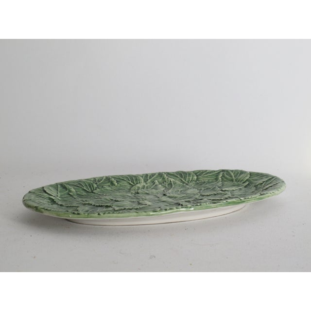 Image of Ceramic Majolica Leaf Plate