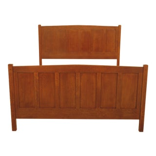 Stickley Arts & Crafts Queen Size Mission Oak Bed