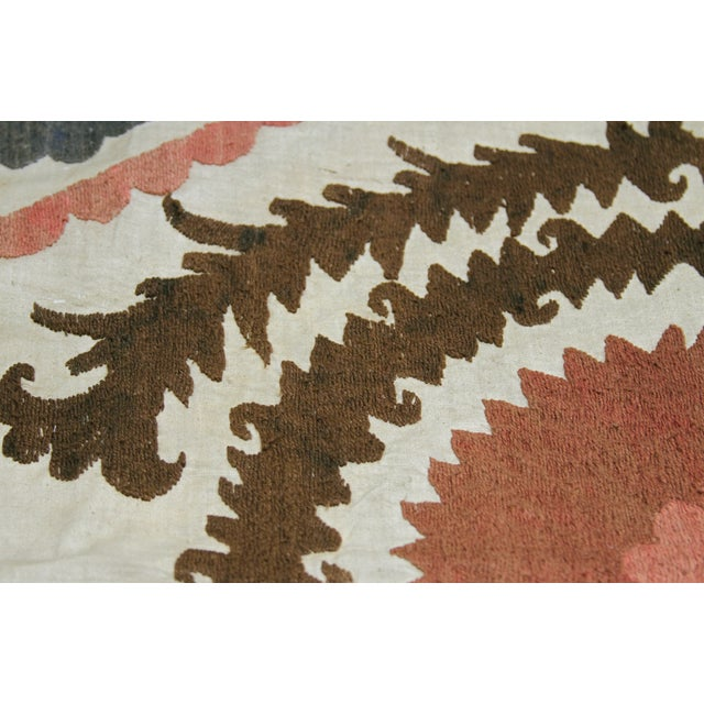 Antique Suzani Throw - Image 4 of 7
