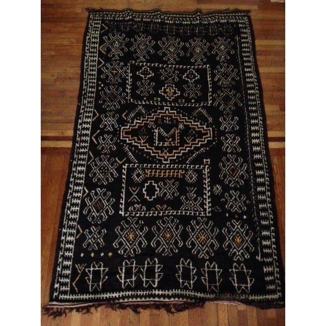 Antique Berber-Style Moroccan Rug - Image 4 of 5