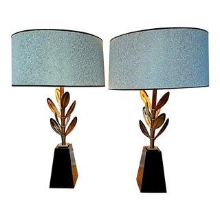 Stiffel Sedum Hollywood Regency Lamps - A Pair