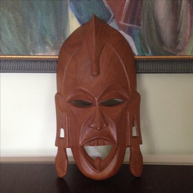 Vintage Wood Hand Carved African Tribal Mask Chairish