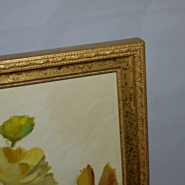 Original Floral Still Life Painting on Canvas - Image 5 of 7