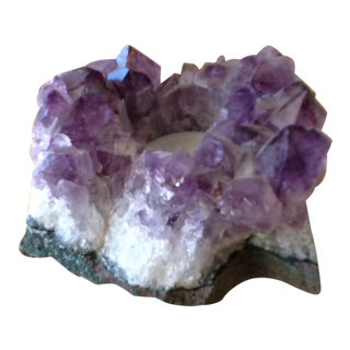 Raw Amethyst Rock Crystal Votive