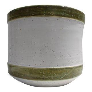 Italian Bitossi Handmade And Painted Ceramic Planter Pot