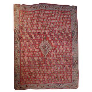 1880s Handmade Antique Turkish Oushak Kilim - 7.7' X 9.2'