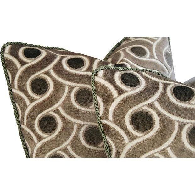 Osborne & Little Cut Velvet Pillows- A Pair - Image 4 of 7