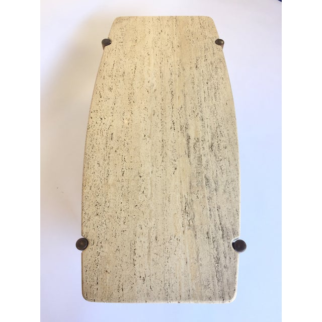 Folke Ohlsson for Dux Travertine Cocktail Table - Image 6 of 6