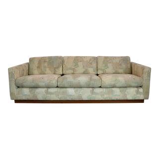 Milo Baughman Style Floating Tuxedo Sofa
