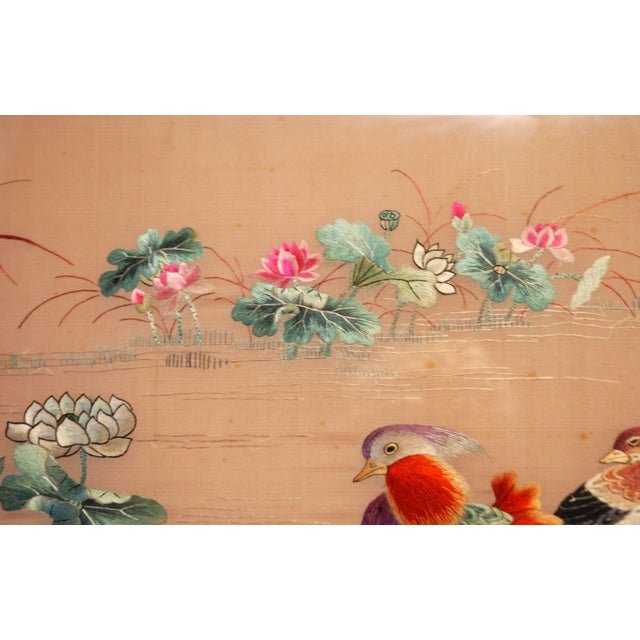 Antique Chinese Silk Embroidery - Image 6 of 8
