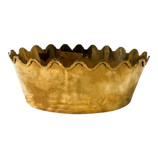 Hollywood Regency Style Large Brass Cachepot
