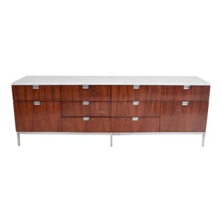 Florence Knoll Rosewood and Marble-Top Credenza, Mid-Century Modern