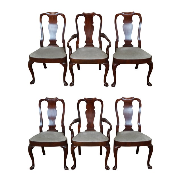 Hickory 18th Century Style Dining Chairs - S/6 - Image 1 of 10