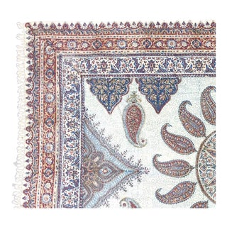 Paisley Fabric Textile with Center Medallion
